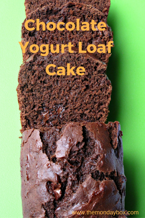 Chocolate Yogurt Loaf Cake- moist and chocolaty quick bread | The Monday Box