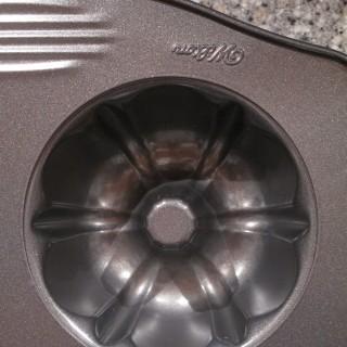 closeup of mini bundt pan cavity