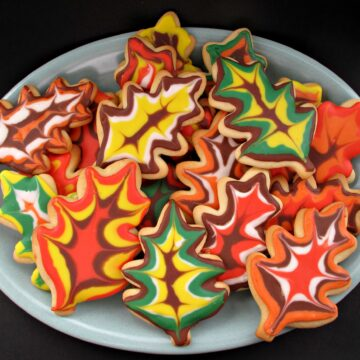 Decorated Thanksgiving Sugar Cookies