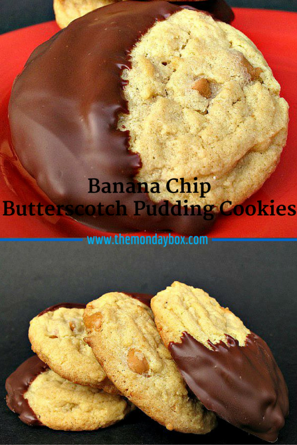Banana Chip Butterscotch Pudding Cookies