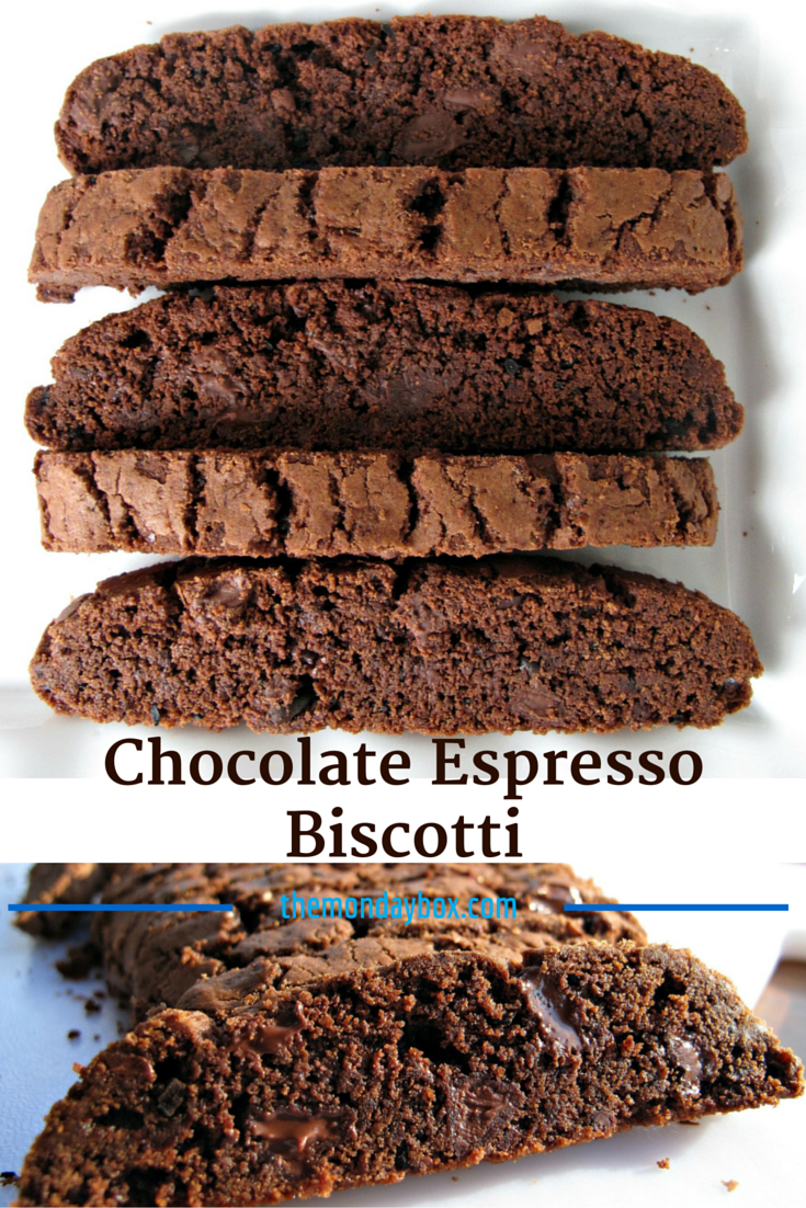 Chocolate Espresso Biscotti- rich chocolaty biscotti are crunchy ...