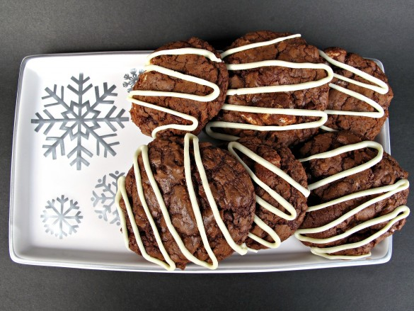 Barista Brownie Cookies- Addicting! Mocha cappuccino in chewy, chocolate, cookie form! | The Monday Box