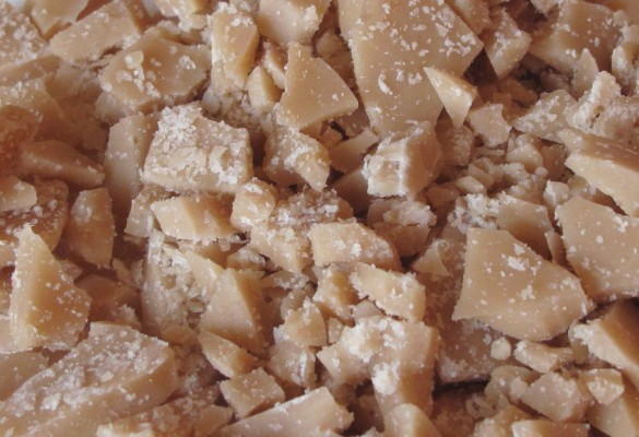 Bits of homemade toffee.