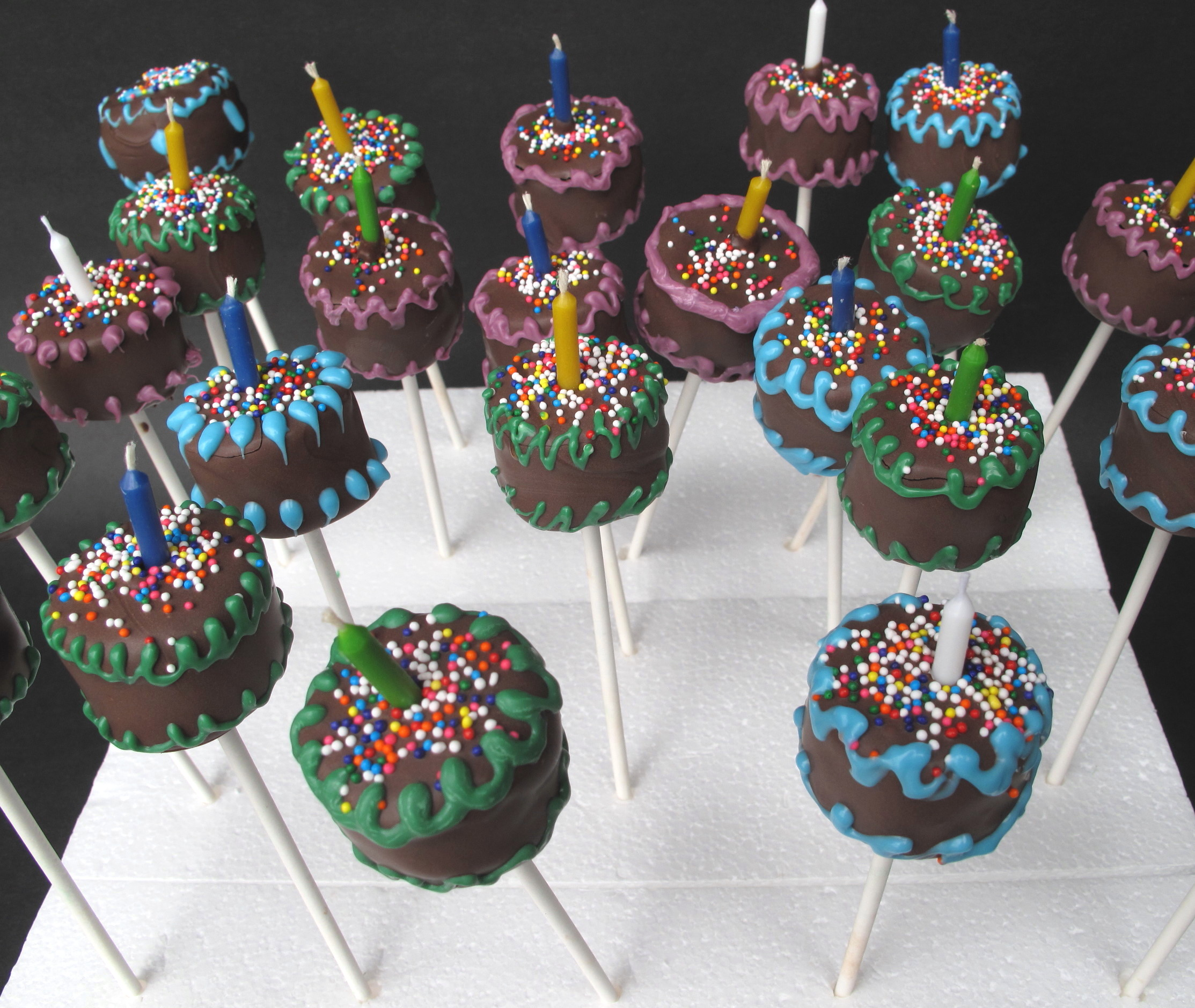 Decorating Cake Pops Easy : birthday cake Cake Pops