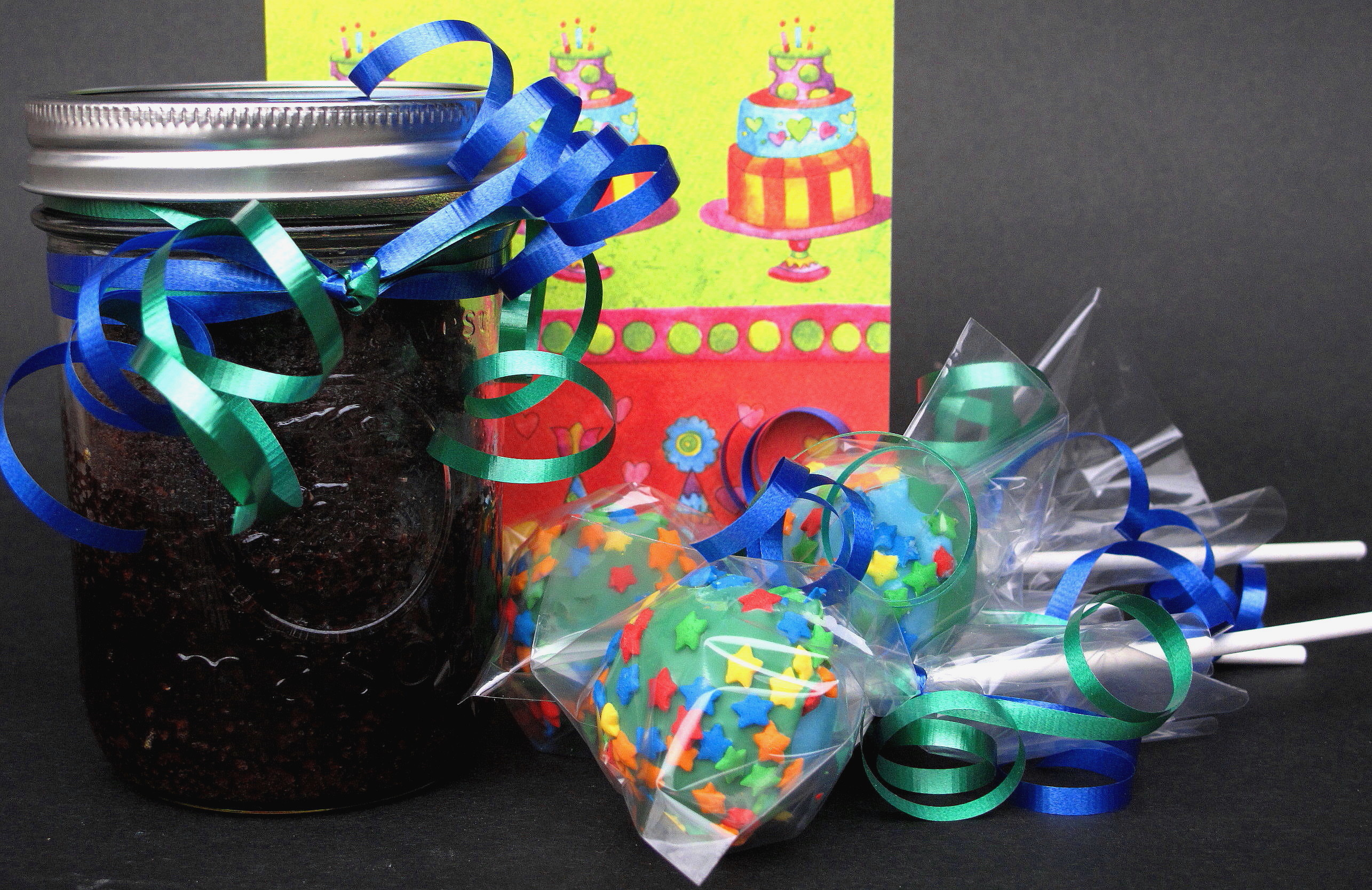 Chocolate Fudge Cake-in-a-Jar and Beginners Cake Pops