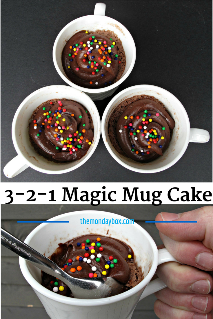 3 2 1 Magic Mug Cake The Monday Box