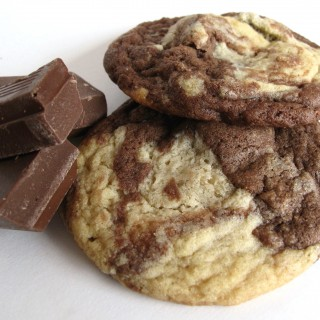 Marbled Chocolate Chunk Cookies