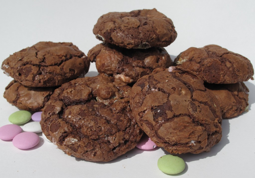 Flourless Chocolate Mint Cookies