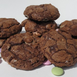 Flourless Chocolate Mint Cookies