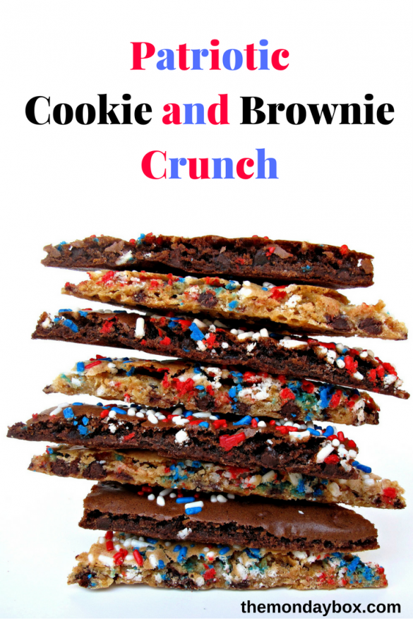 Stack of Chocolate Chip Cookie and Brownie Crunch cookies
