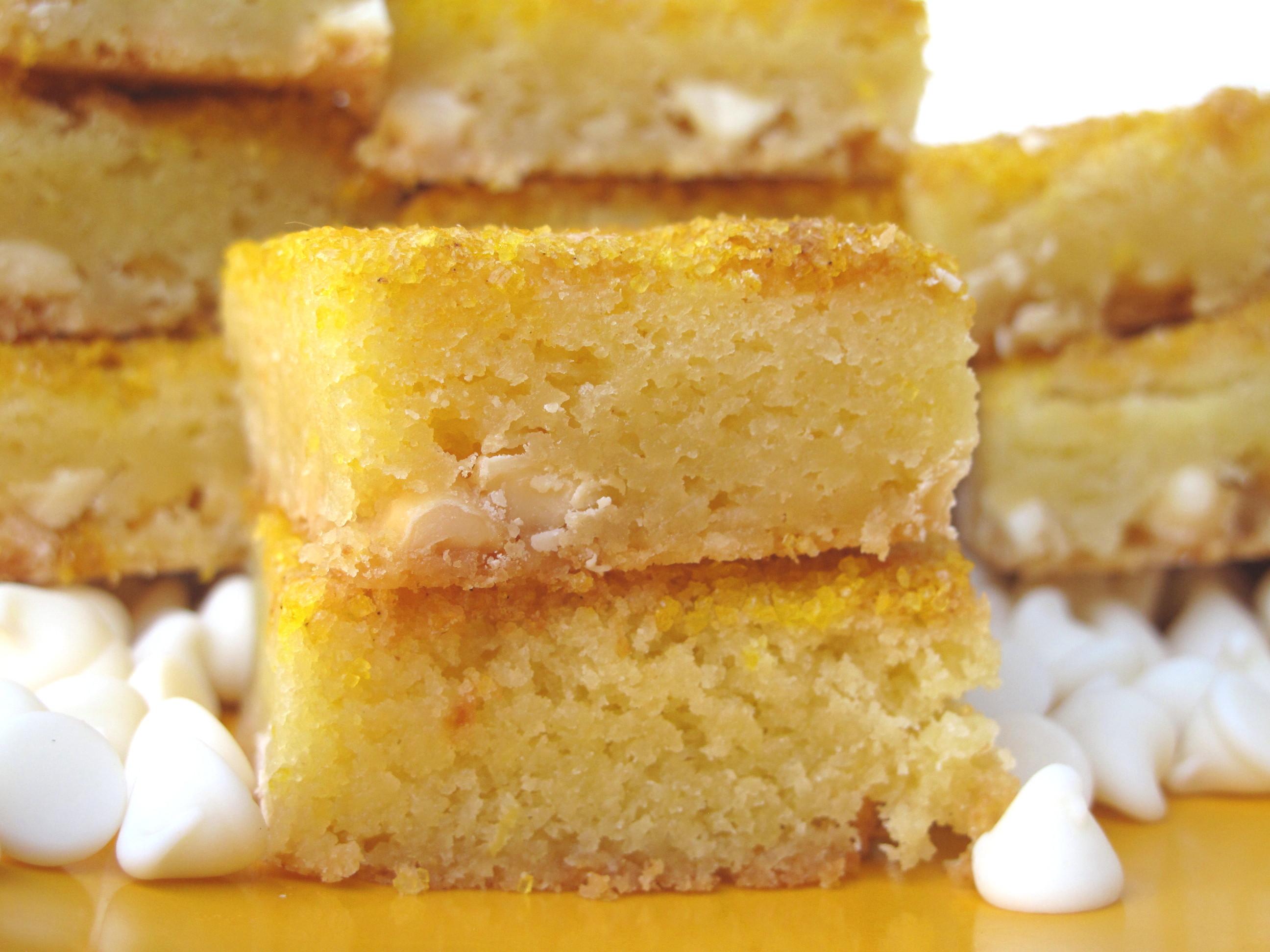 Chewy White Chocolate Lemon Bars