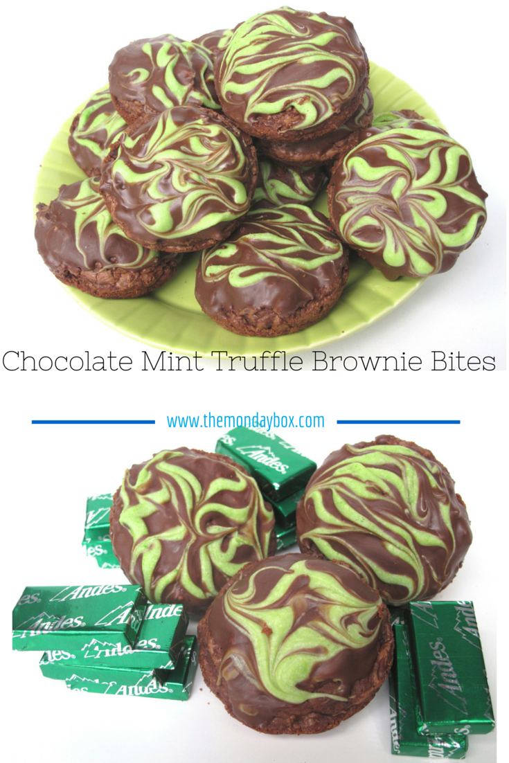 Chocolate Mint Truffle Brownie Bites- Chopped Andes chocolate mint ...