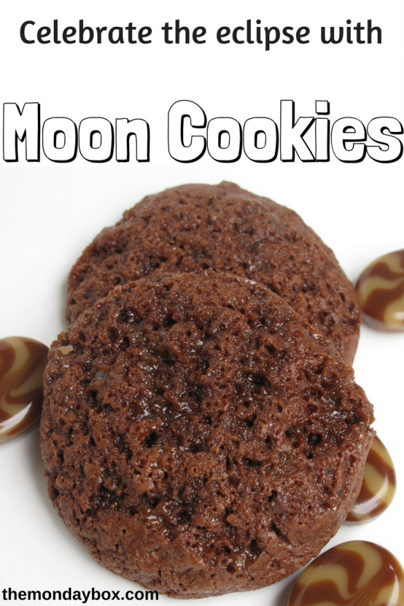 Caramel Mocha Moon Cookies-a chocolate moonscape covered in molten candy hardened into shiny pools of caramel coffee crunch.| The Monday Box