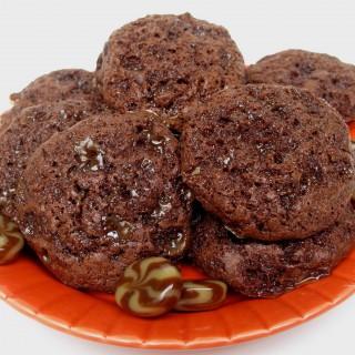 Caramel Mocha Moon Cookies