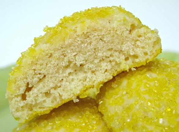 Sparkling Lemon Pillow Cookies