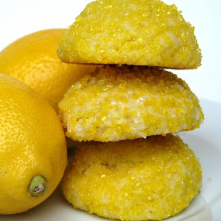 Sparkling Lemon Pillow Cookies- sugar coated pillows of luscious lemony cookie!