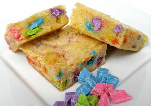 Rainbow Chip Blondies