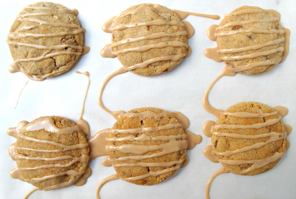 Six Cinnamon Dream Cookies drizzled with icing