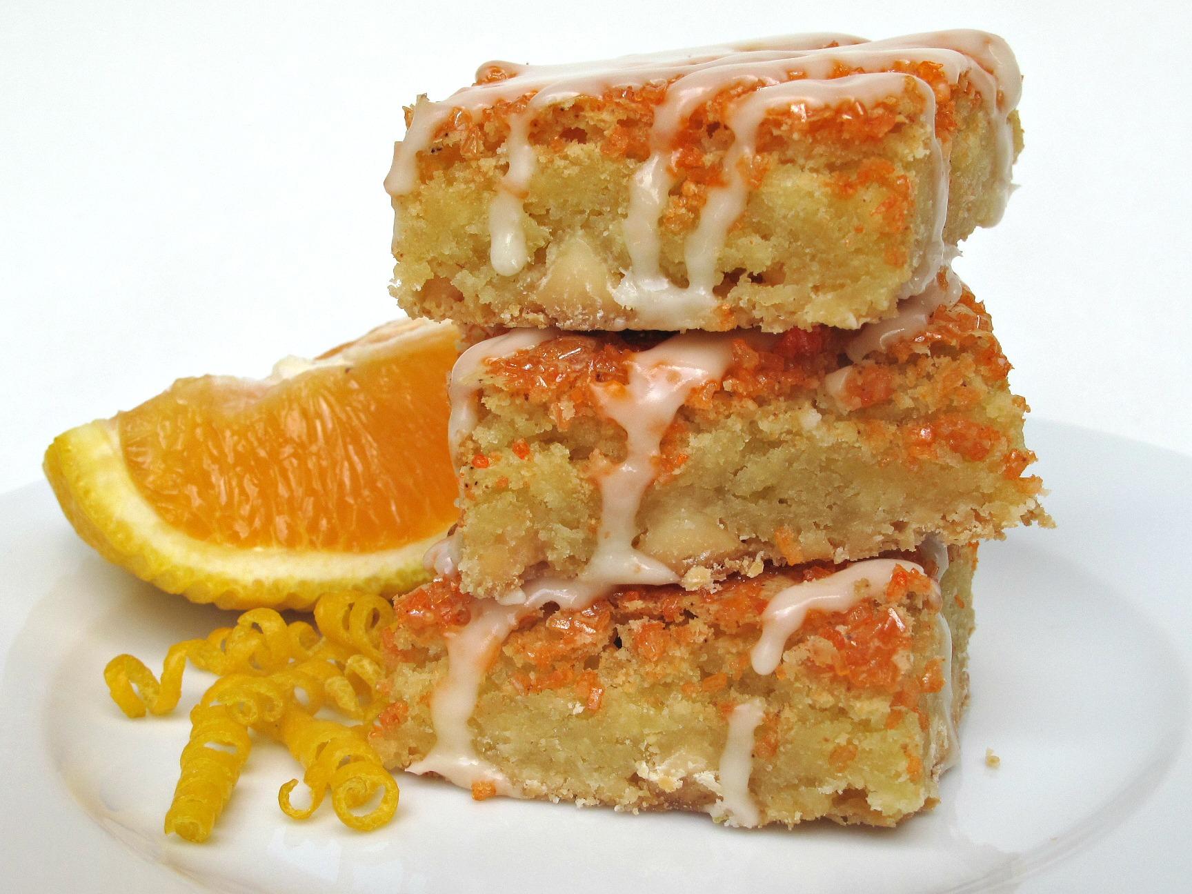 Stack of orange bars.
