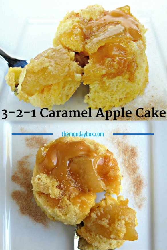 3-2-1 Caramel Apple Mug Cake Pinterest Graphic