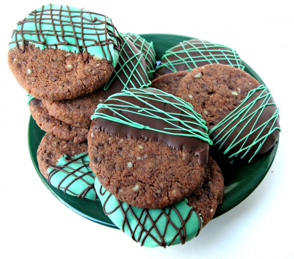 Chocolate Peppermint Shortbread Cookies