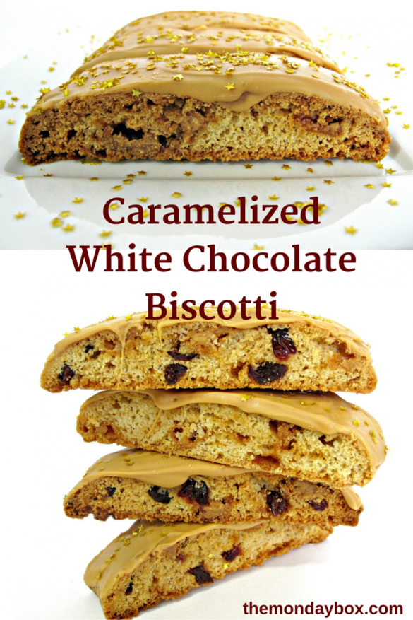 Caramelized White Chocolate Biscotti