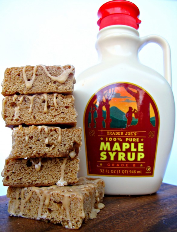 Maple Syrup Blondies with Maple Sugar Candy