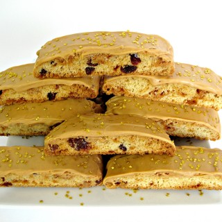 Caramelized White Chocolate Biscotti