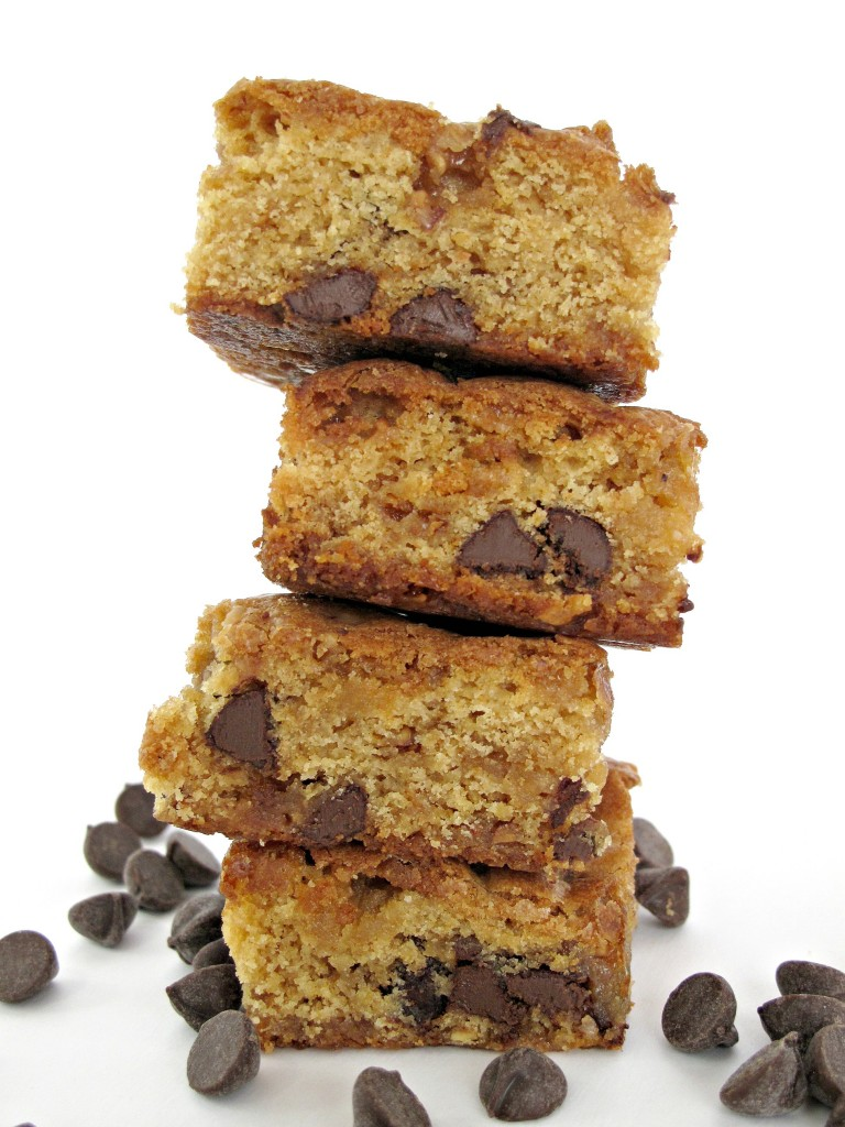 Chocolate Chip Cookie Bars stack