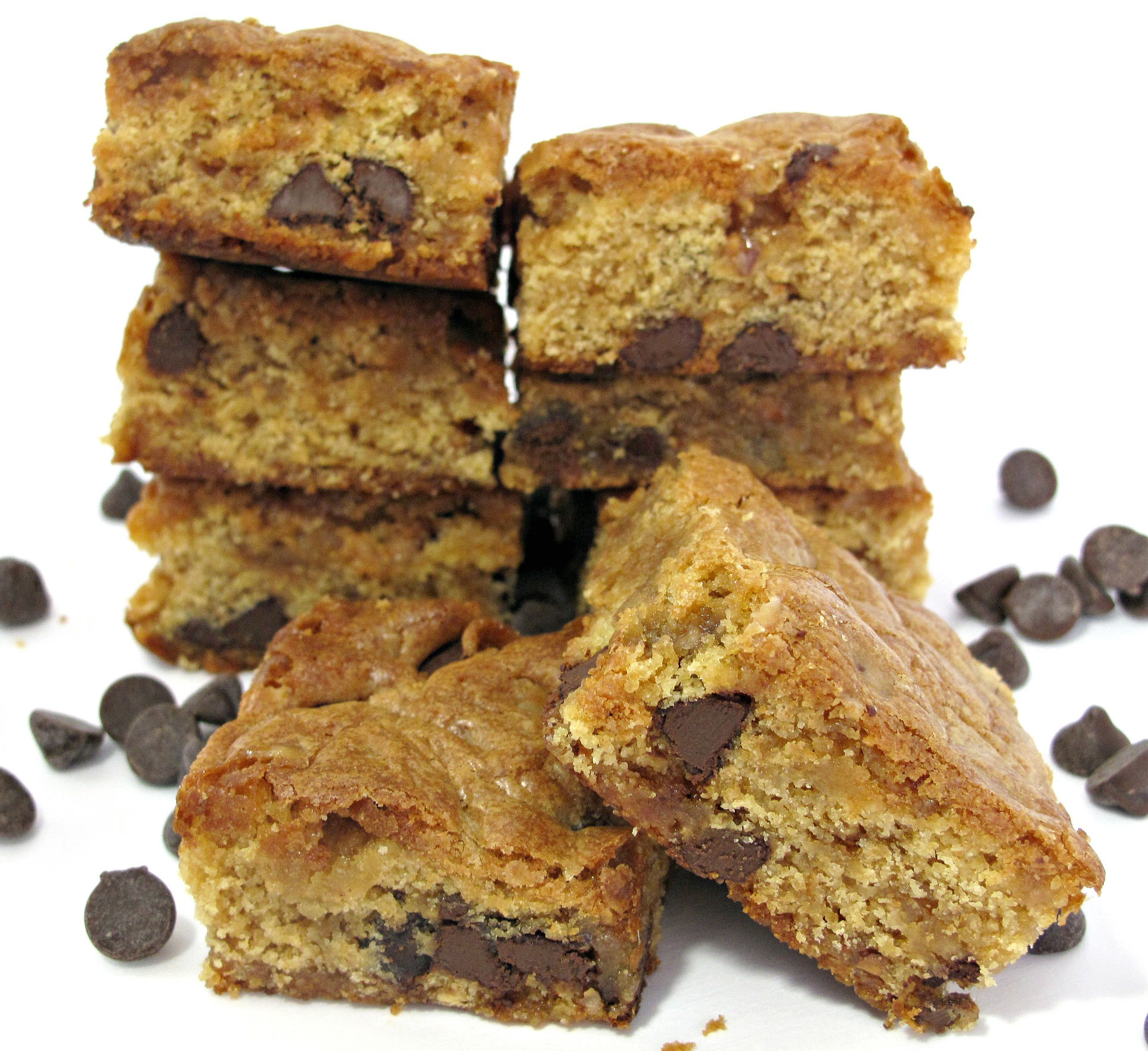 Chocolate Chip Cookie Bars with Incredibly Long Lasting Chewiness