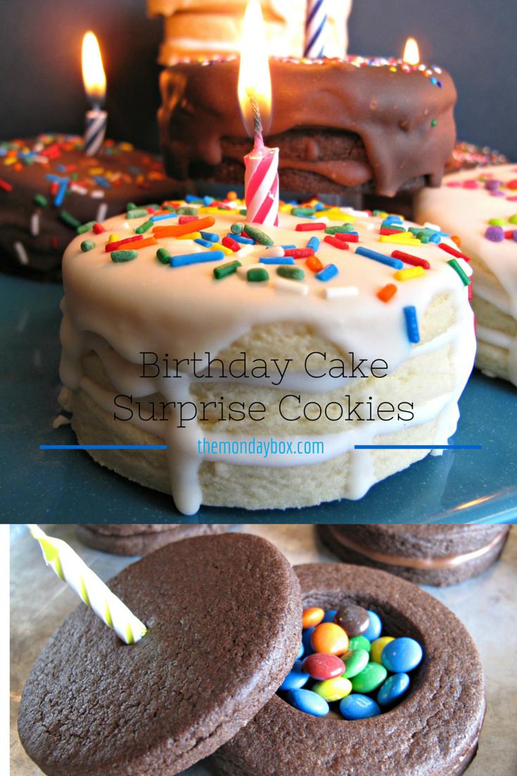 Birthday Cake Surprise Cookies - The Monday Box