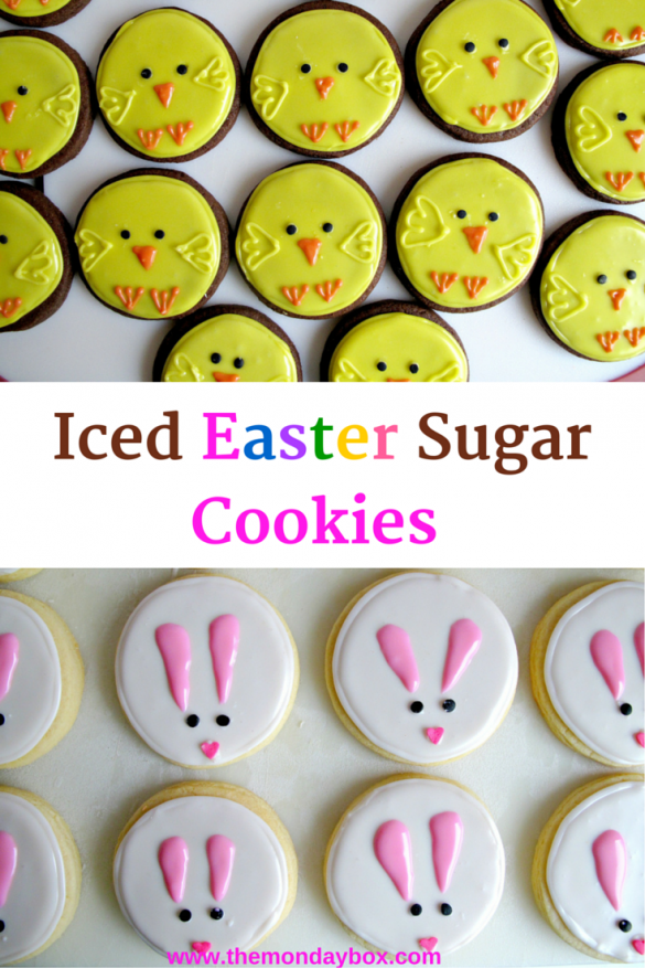 Iced Easter Sugar Cookies