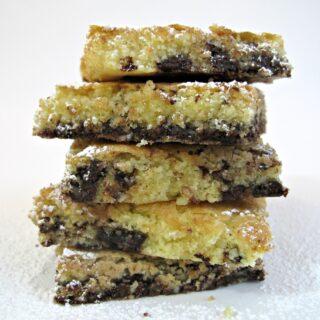 Chocolate Chip Almond Cookie Squares