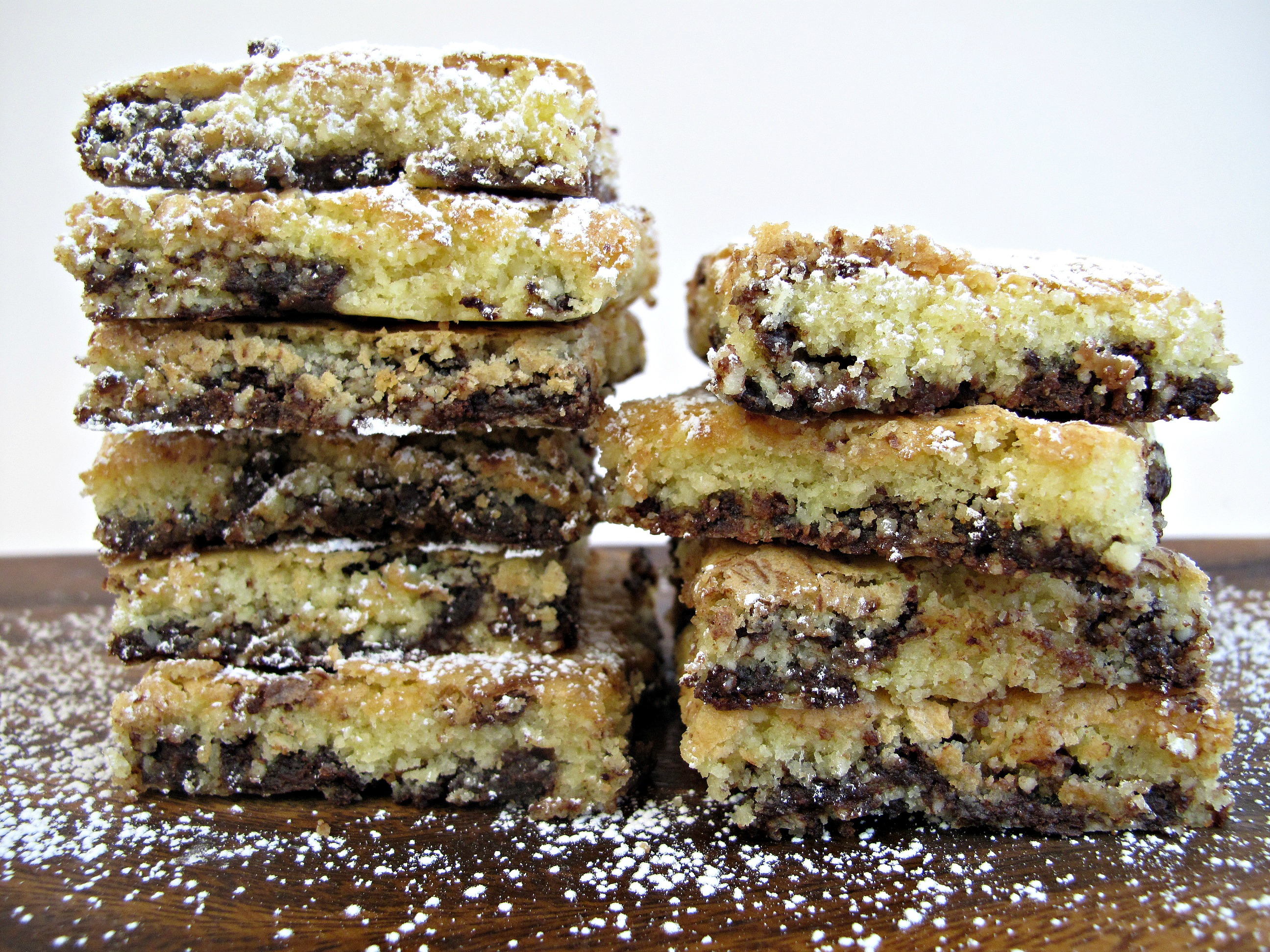 Chocolate Chip Almond Cookie Squares