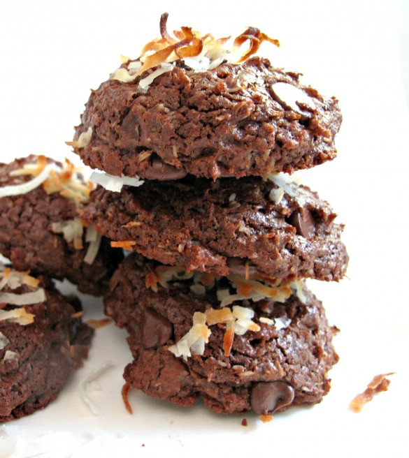 Chocolate Coconut Bliss Cookies