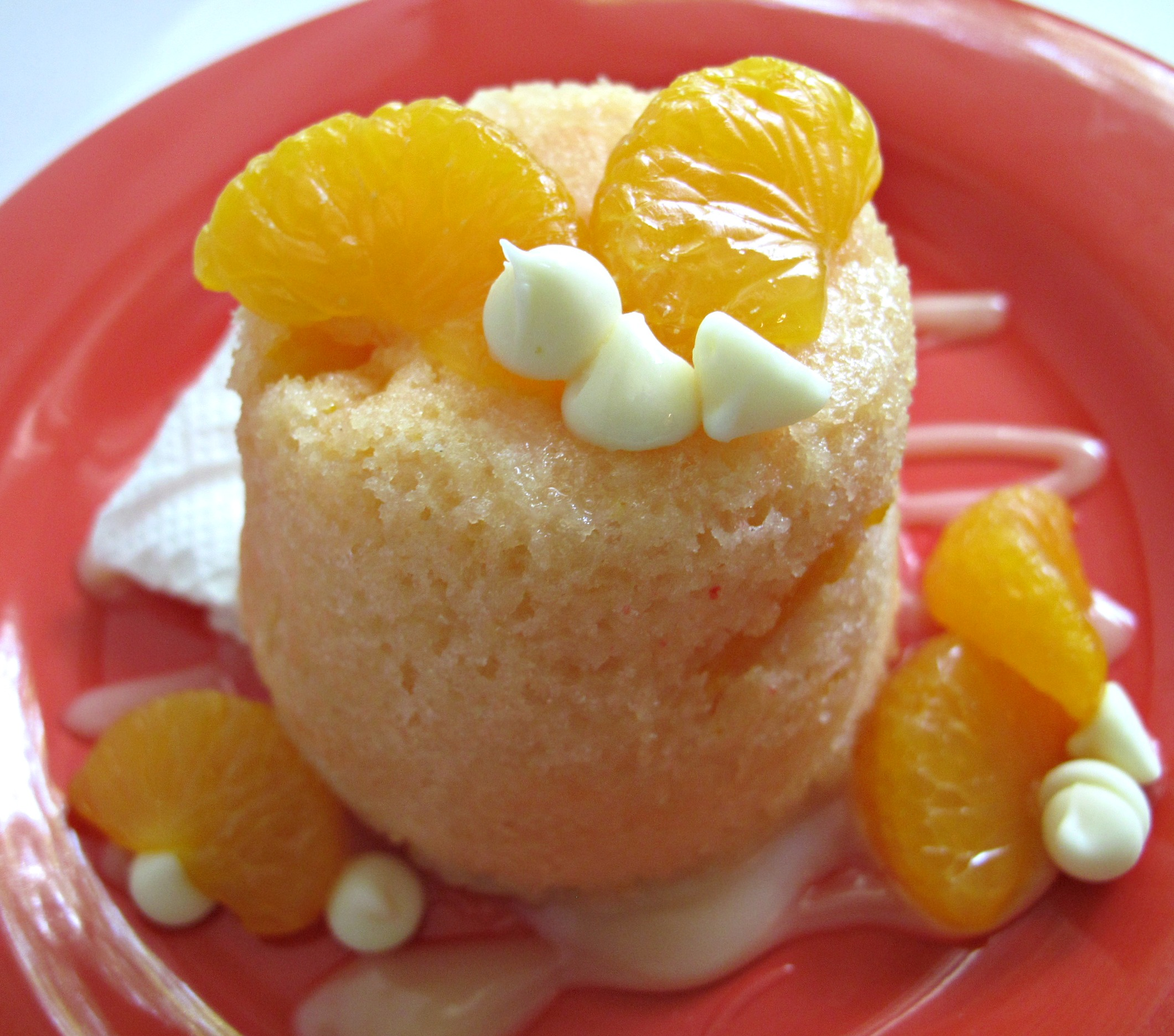 Orange Microwave Mug Cake