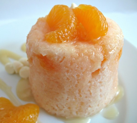 3-2-1 Mandarin Orange Microwave Mug Cake