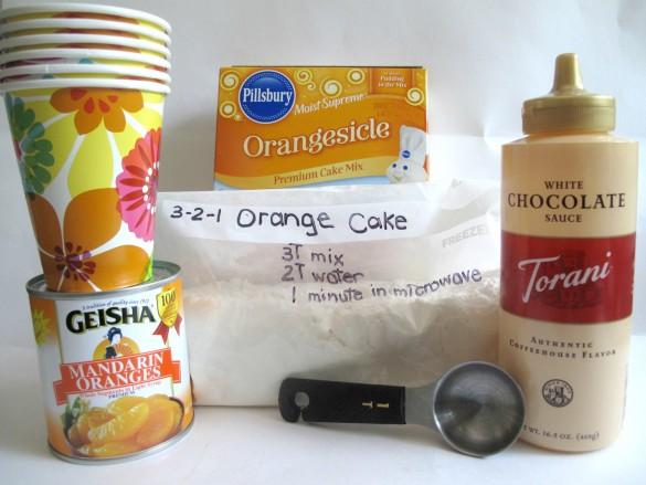 3-2-1 Mandarin Orange Microwave Mug Cakee