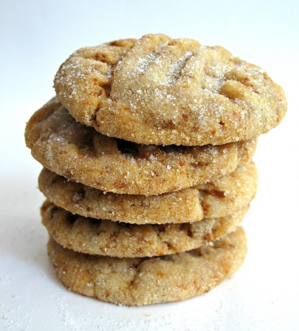 Cinnamon Divinity Cookies stacked to show thick but not puffy cookie
