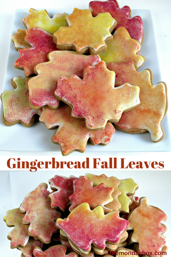 Gingerbread Fall Leaves