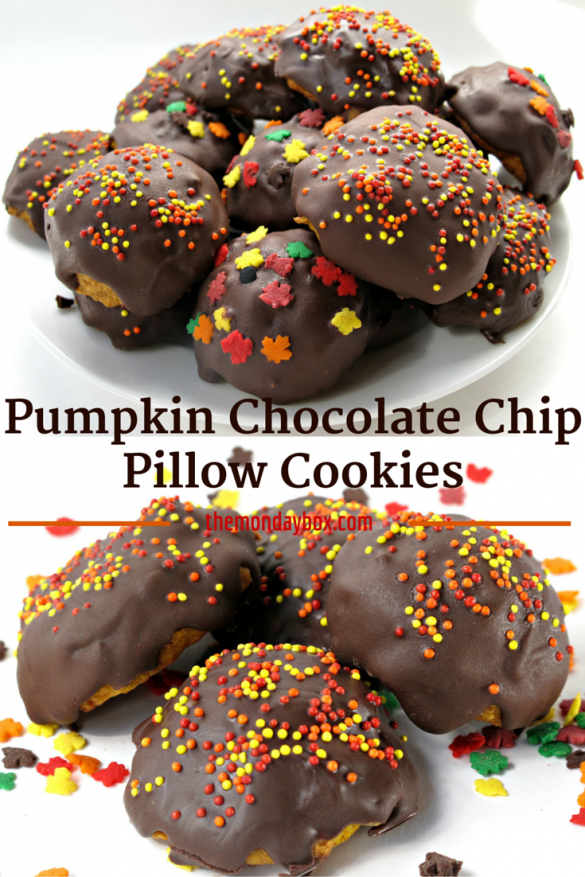 Pumpkin Chocolate Chip Pillow Cookies