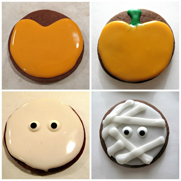 Halloween Circle Cookie Collage