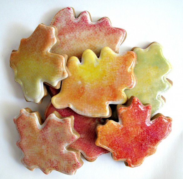 Gingerbread Fall Leaves Cookies