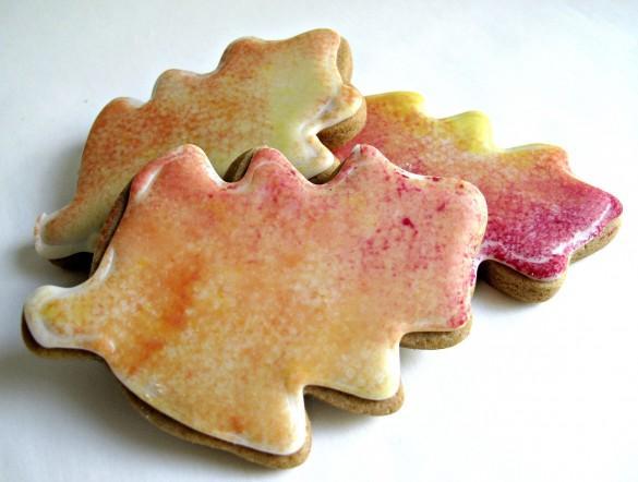 Gingerbread Fall Leaves Cookies