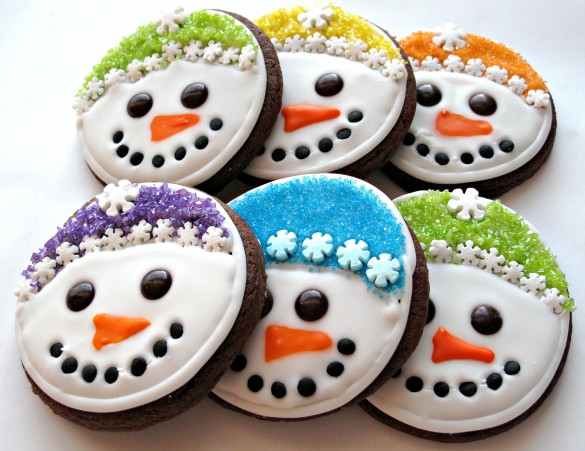 Iced Snowmen Sugar Cookies