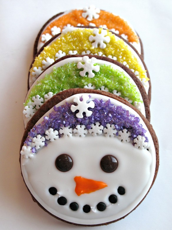 Iced Snowmen Sugar Cookies