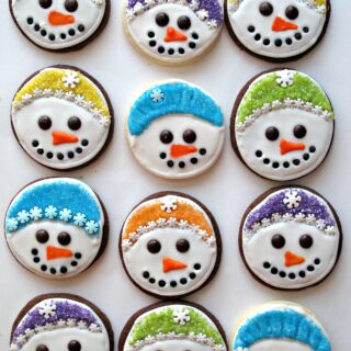 Iced Snowmen Sugar Cookies and Military Care Package #8