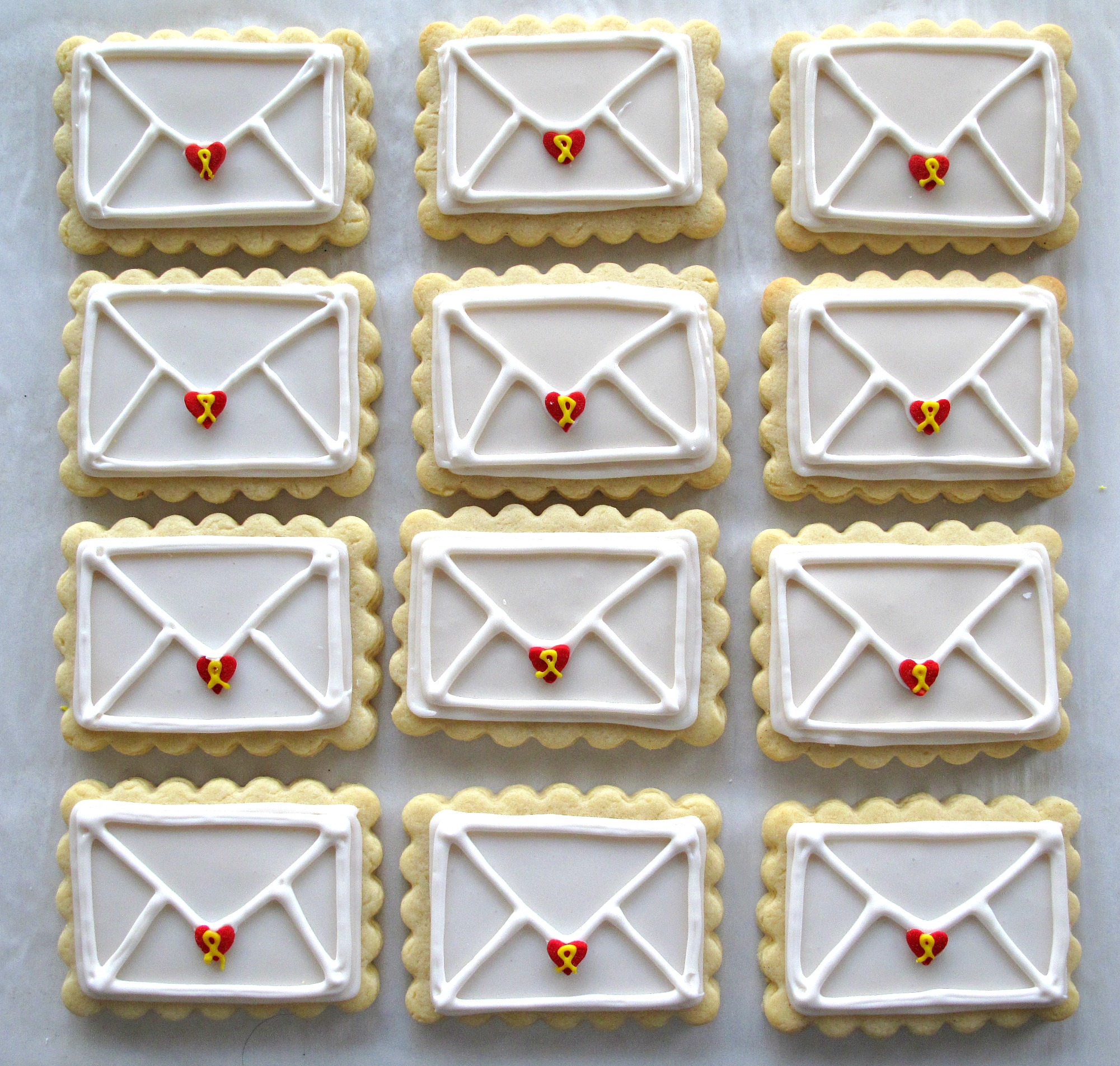 Valentine Envelope Sugar Cookies And Military Care Package 9 The