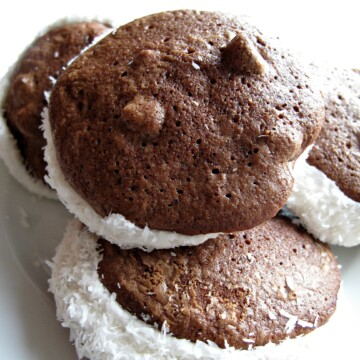 Passover Chocolate Coconut Whoopie Pies (Gluten Free)