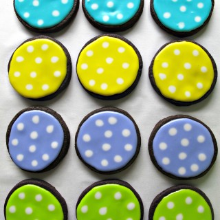 polka dot chocolate sugar cookies